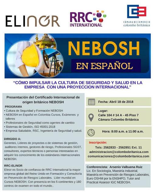 Presentación del Certificado Internacional de origen británico NEBOSH